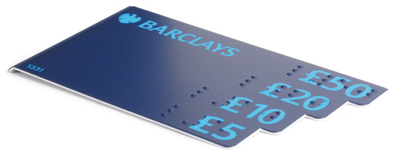 Screencraft Braille bank note gauge